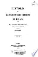 Historia del levantamiento, guerra y revolucion de España