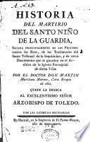 Historia del martirio del Santo Niño de la Guardia