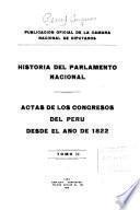 Historia del Parlamento Nacional