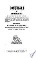 Historia del primer descubrimiento y conquista de las Canarias escrita 1402, trad. de la edicion hecha en Paris 1630, por Pedro M. Kamirez