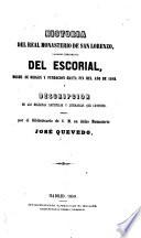Historia del real monasterio de San Lorenzo