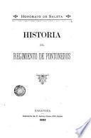 Historia del Regímento de Ponteneras