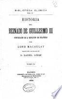 Historia del reinado de Guillermo III