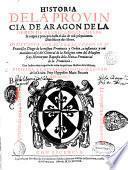 Historia dela provincia de Aragon de la Orden de Predicadores
