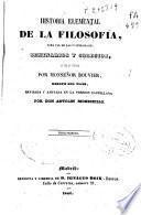 Historia elemental de la filosofía para uso de las universidades, seminarios y colegios