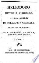 Historia Ethiopica de los amores de Theagenes y Chariclea