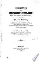 Historia externa del derecho romano para el uso de los estudiantes de jurisprudencia