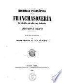 Historia filosófica de la francmasonería