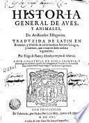 Historia general de aves, y animales (etc.)