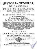 Historia general de la Iglesia, desde su fundacion hasta este presente siglo