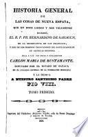 Historia general de las cosas de Nueva Espanã