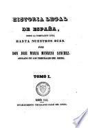 Historia legal de Espana