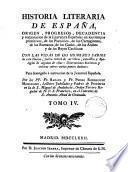 Historia literaria de Espana, por R. y P. Rodriguez Mohedano. [With] Apologia del