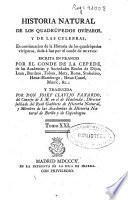Historia natural de los quadrúpedos ovíparos y de las culebras