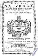 Historia natural, y moral, dal nacimiento dal mundo. pt. 1