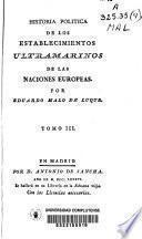 Historia política de los establecimientos ultramarinos de las naciones europeas