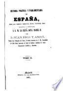 Historia politica y parlamentaria de España