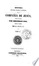 Historia religiosa, política y literaria de la Compañía de Jesús, 2