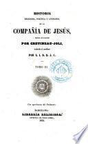 Historia religiosa, política y literaria de la Compañía de Jesús, 3