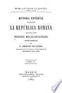 Historia universal durante la República romana