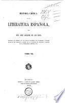 Historica crítica de la literatura española