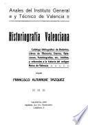 Historiografía valenciana
