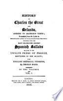 History of Charles the Great and Orlando