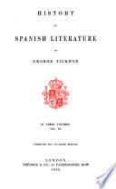 History of Spanish Literature