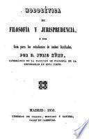 Hodogética de filosofía y jurisprudencia