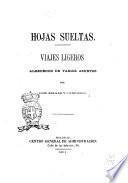 Hojas sueltas viajes ligeros alrededor de varios asuntos por José Selgas y Carrasco