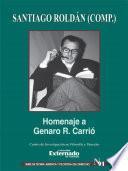 Homenaje a Genaro R. Carrió