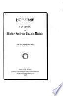 Homenaje a la memoria del doctor Federico Diez de Medina, +13 de junio de 1904