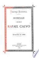 Homenaje al genio artístico de Rafael Calvo