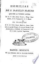 Homilias de S. Basilio Magno