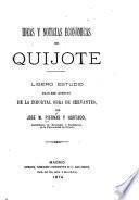 Ideas y noticias económicas del Quijote