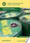 Identificación de residuos industriales. SEAG0108