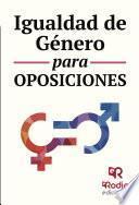 Igualdad de Género para Oposiciones