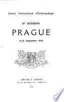 IIe session, Prague, 14-21 septembre 1924