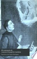 III Centenario do veneravel Joseph de Anchieta