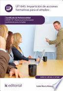 Impartición de acciones formativas para el empleo. SSCE0110
