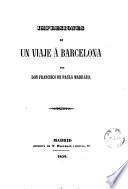 Impresiones de un viaje á Barcelona