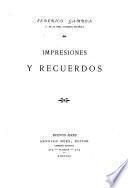 Impresiones y recuerdos