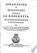 Indagación y reflexiones sobre la geografia
