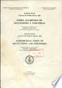 Indice alfabético de ocupaciones e industrias. Puerto Rico censo de población: 1950