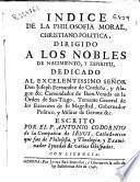 Indice de la philosofia moral, christiano-politica