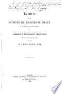 Indice de los documentos del monasterio de Sahagun y glosario y diccionario geographico