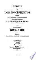 Indice de los documentos procedentes de los monasterios y conventos suprimidos que se conservan en el archivo de la real academia de la historia