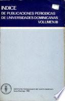 Indice de publicaciones periódicas de universidades dominicanas