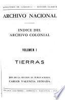 Indice del Archivo Colonial