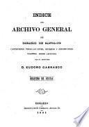 Indice del Archivo General del Rosario de Santa-Fe